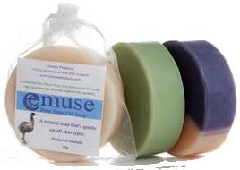 Luxe handgemaakte zeep met Emoe Olie en Himalaya Zout